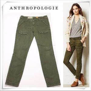 Anthropologie Pilcro Cargo Pants Green